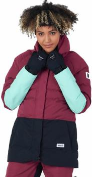 Planks Huff 'N Puffa Insulated Women's Ski/Snowboard Jacket, S Plum