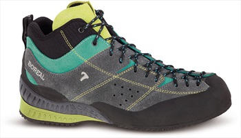 Boreal Womens Flyers Mid Approach/Walking Shoe, UK 4 Grey/Lime
