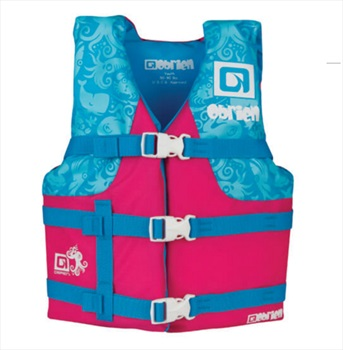 O'Brien Kids Nylon Buoyancy Aid Life Jacket, Youth Bl Pnk