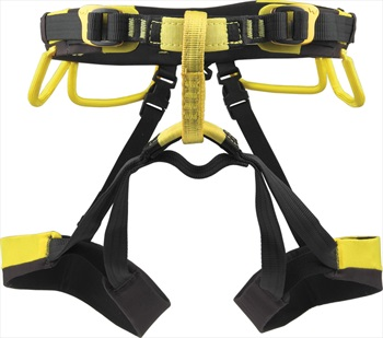 Grivel Adult Unisex Apollo Rock Climbing Harness, 67-87cm Black/Yellow