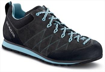 Scarpa Crux Women's Approach Shoe, UK 7 1/4, EU 41 Shark/Blue Radiance