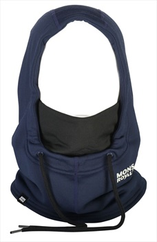 Mons Royale Decade Wool Fleece Hood Merino Balaclava, OS Navy