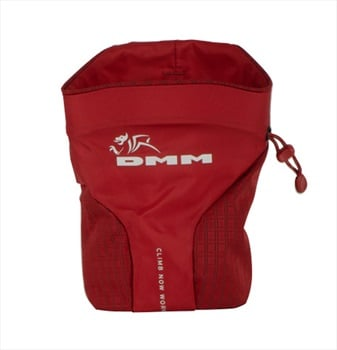 DMM Trad Rock Climbing Chalk Bag, One Size Red/Black