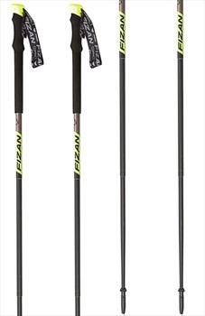 Fizan Compact Pro Ultralight Trekking Poles, 59-132cm Grey/Yellow