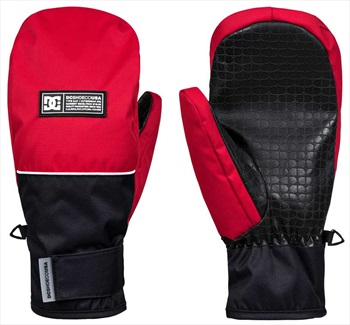 DC Franchise Ski/Snowboard Mittens, M Racing Red