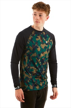 Planks Fall-Line Base Layer Thermal Top, M Autumn Camo