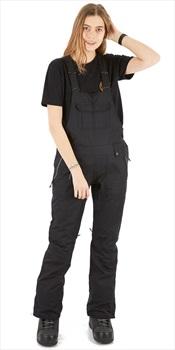 686 Black Magic Insulated Bib Womens Snowboard/Ski Pants XS All Black