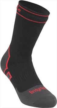 Bridgedale Heavyweight Waterproof Crew Storm Sock, XL Black/Red