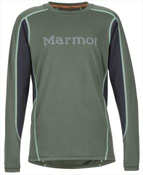 Marmot Boy's Windridge Graphic Technical LS Shirt, M Crocodile