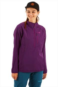 Outdoor Research Women's Ferrosi Windshirt Pullover, XS Elderberry