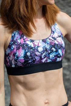 8b+ Womens Epic X-strap Sports Bra, S Print