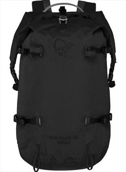 Norrona Trollveggen 40L Dri Pack Mountaineering Backpack, Caviar Black