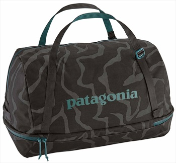 Patagonia Planing 55L Duffel Travel Bag, 55L Tiger Tracks/Black Ink