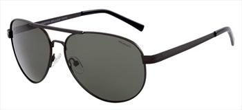 North Beach Tekka Green Polarised Sunglasses, Gunmetal