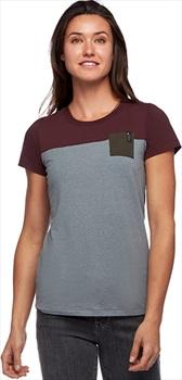 Black Diamond Womens Campus Womens T-Shirt, S Storm Blue Hthr/Port Cypress