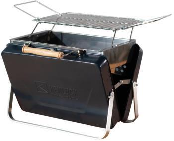 Kenluck Mini Grill Portable Camping BBQ, Hammertone Gloss Blue
