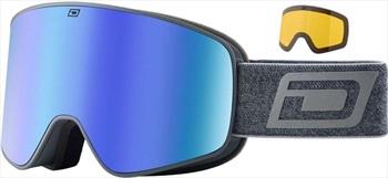 Dirty Dog Mutant Legacy 0.5 Blue Mir Snowboard/Ski Goggles, M Grey