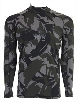 Liquid Force Warrior Long Sleeve Rash Guard, Medium Camo Black
