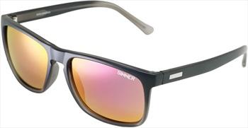 Sinner Oak CX Sintec Winter/Summer Red Wayfarer Sunglasses, Black/Grey