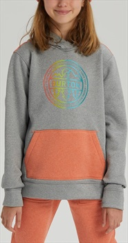 Burton Girl's Oak Pullover Hoodie, M Grey Heather/Crahtr
