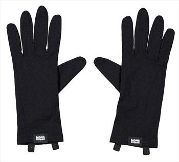 Mons Royale Volta Merino Wool Glove Liner, L Black