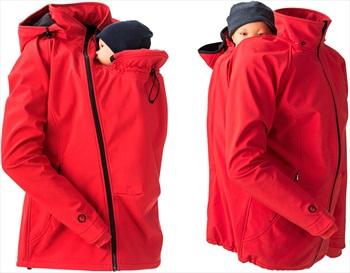 Mamalila Softshell Baby Wearing Maternity Jacket/Coat, UK 14 Red