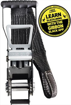 "Gibbon Power Ratchet (1"" & 2"") Slackline Accessory Black"