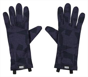 Mons Royale Volta Merino Wool Glove Liner, L 9 Iron Camo