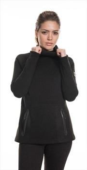 686 Knit Tech Women's Fleece Hoody, M Black Melange