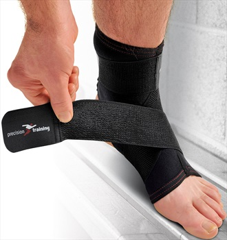 Precision Neoprene Ankle Support With Strap L Black