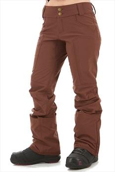 Dakine Women's Inverness Women's Ski/Snowboard Pants, XS Rust Brown