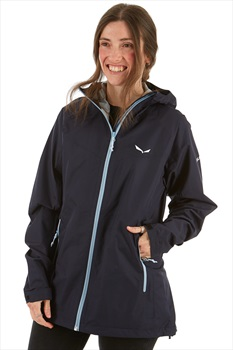 Salewa Puez PTX Women's Powertex 2.5L Jacket, UK 12 Premium Navy