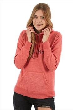 Animal Sketched Women's Hoodie, UK 10 Mineral Red Marl