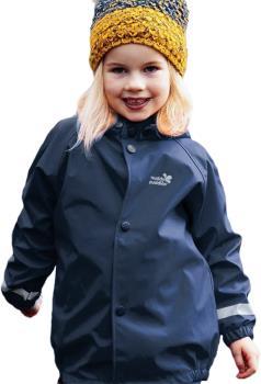 Muddy Puddles Rainy Day Kids Waterproof Jacket, 2-3yrs Navy