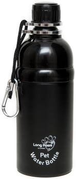 Long Paws Lick N Flow Smart Pet Water Bottle, 500ml Black