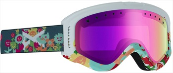 Anon Tracker Pink Amber Kid's Ski/Snowboard Goggles, S Garden