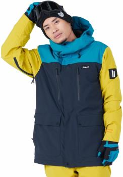Planks Good Times Insulated Ski/Snowboard Jacket, M Midnight Teal