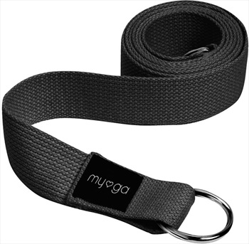 Myga Back To Basics 2-in-1 Yoga/Pilates Belt & Sling, Black