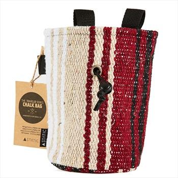 Static Traveller Series Rock Climbing Chalk Bag: White, Beige, & Red