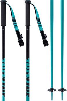 LINE Tac Ski Poles, 95cm Teal