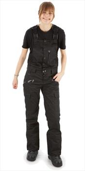 Saga Rogue Women's Bib Pants, L All Black