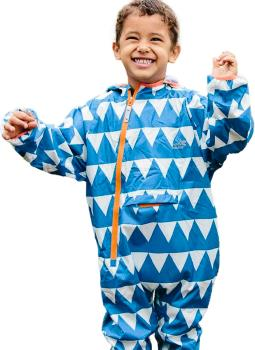 Muddy Puddles Ecolight Kids Lined Puddle Suit, 3-4yrs Blue Triangles