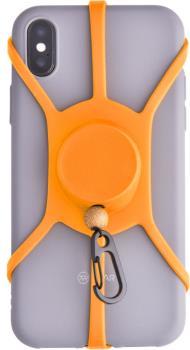 Pulpo Leash Extendable Phone Cord With Carabiner Clip, Orange