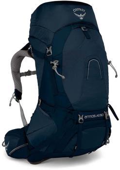 Osprey Atmos AG 50 Large Ventilated Trekking Backpack, 50L Unity Blue