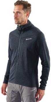 Montane Adult Unisex Protium Full-Zip Fleece Hoodie, Xl Charcoal