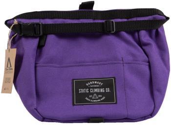 Static Canvas Bucket Rock Climbing Chalk Bag : Purple