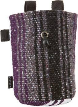 "Static Adult Unisex Traveller Series Rock Climbing Chalk Bag, 7"" Purple & White"