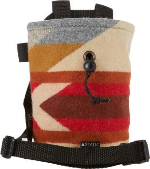 "Static Adult Unisex Nomad Rock Climbing Chalk Bag, 7"" Red Stripes"