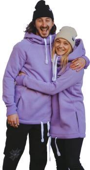 bro! Chill N'shred Unisex Ski/Snowboard Hoodie, M Lavender