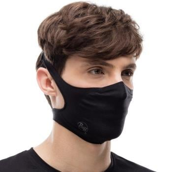 Buff Filter Protective Reusable Face Mask One Size Solid Black